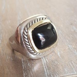 David Yurman Albion Black Onyx Ring With Gold